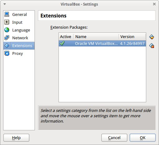oracle vm virtualbox extension pack 4.1.12